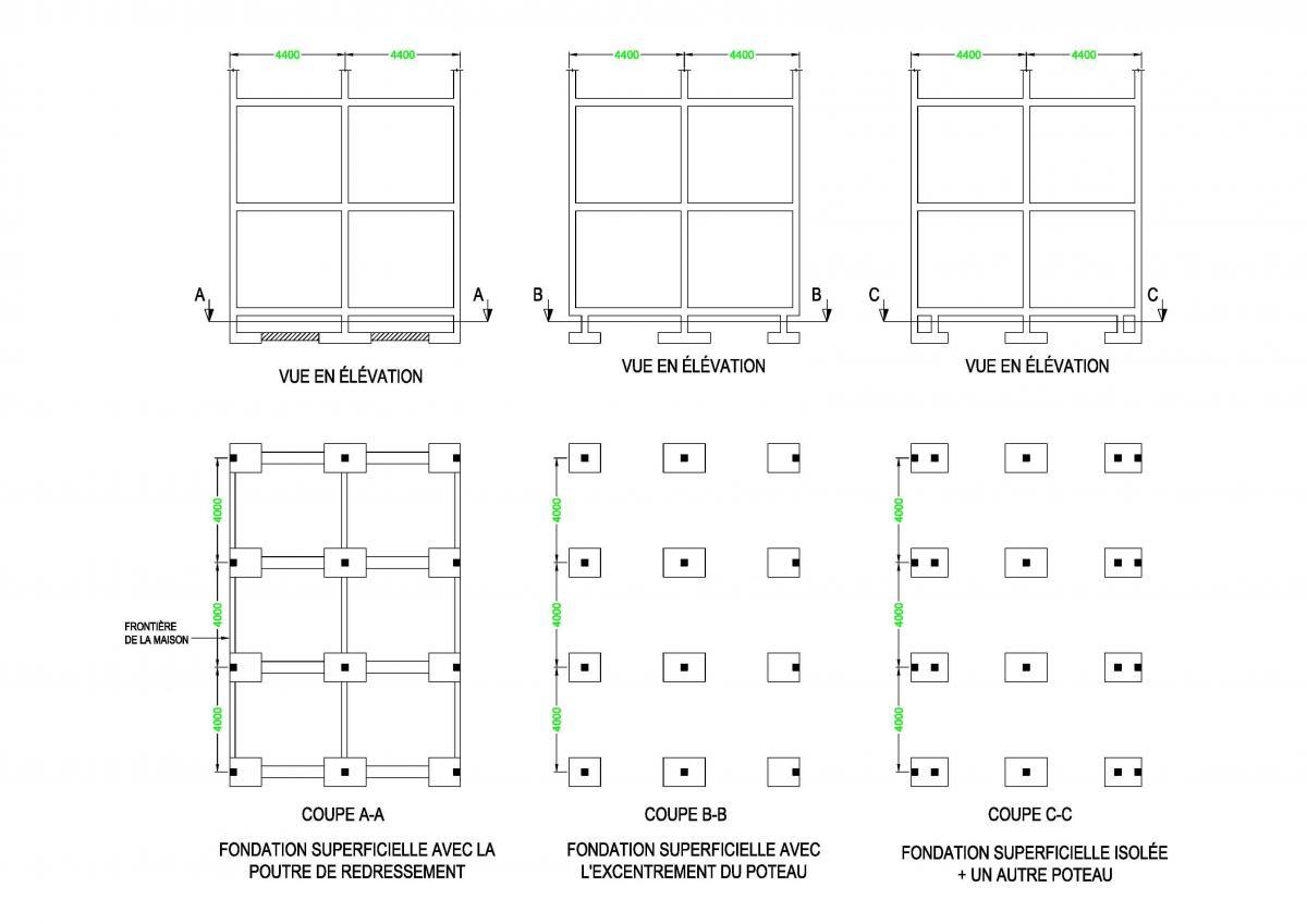 tude d 39 une fondation superficielle sols fondations. Black Bedroom Furniture Sets. Home Design Ideas