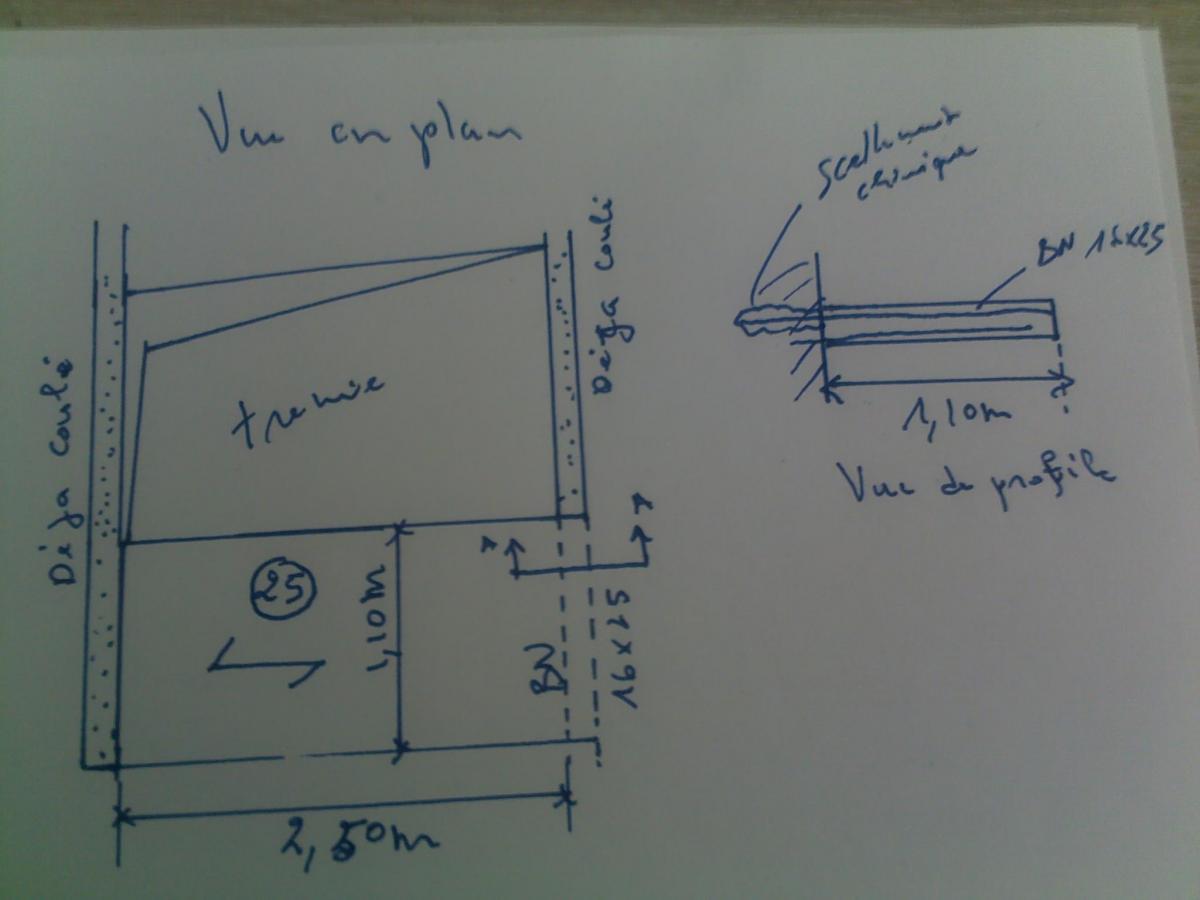 longueur de scellement barre encatr e b ton arm. Black Bedroom Furniture Sets. Home Design Ideas