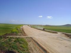 Pk 62 990  vers alger 3eme couche De PST   travaux De drainage