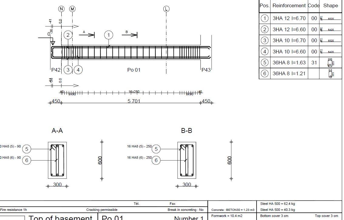 Ferraillage avec robot structures civilmania for Qu est ce qu un plan du site pour une maison