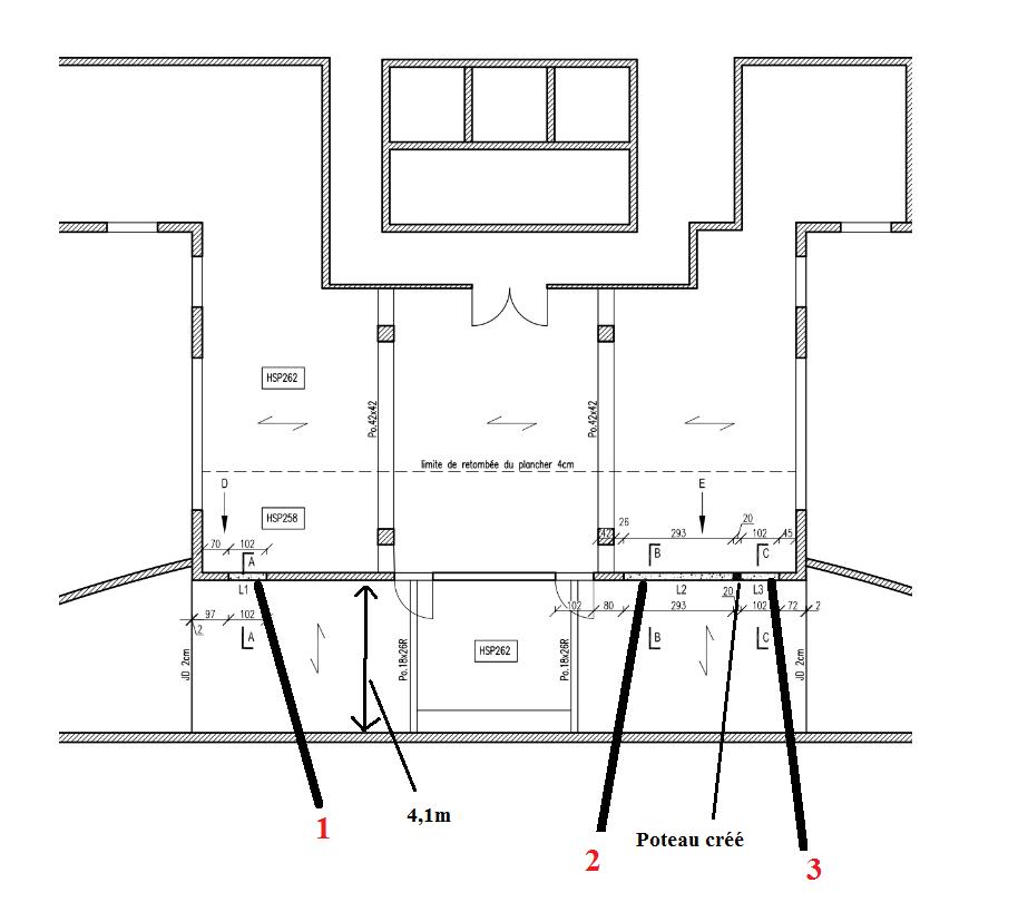 ouverture voile porteur b ton arm civilmania. Black Bedroom Furniture Sets. Home Design Ideas