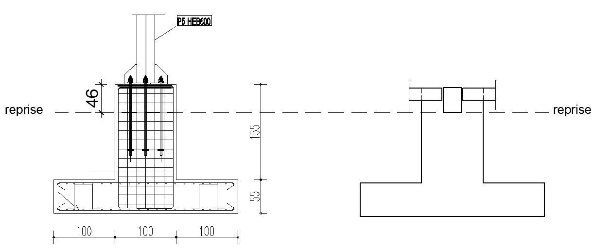 reprise de b tonnage sur des tiges d 39 ancrages charpente. Black Bedroom Furniture Sets. Home Design Ideas